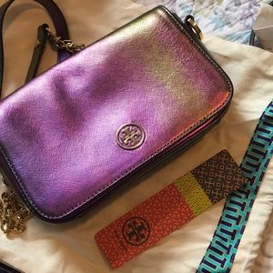 Rare Ologram Tory Burch Robinson Bag